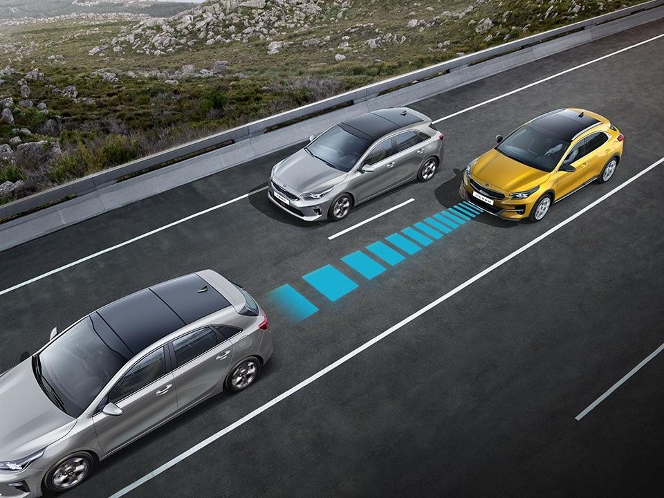 Régulateur de vitesse adaptatif avec Stop and Go
