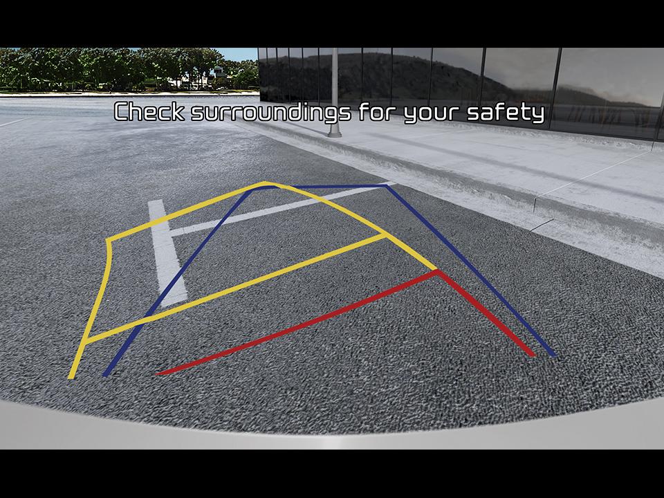 Caméra de recul avec lignes de guidage dynamiques