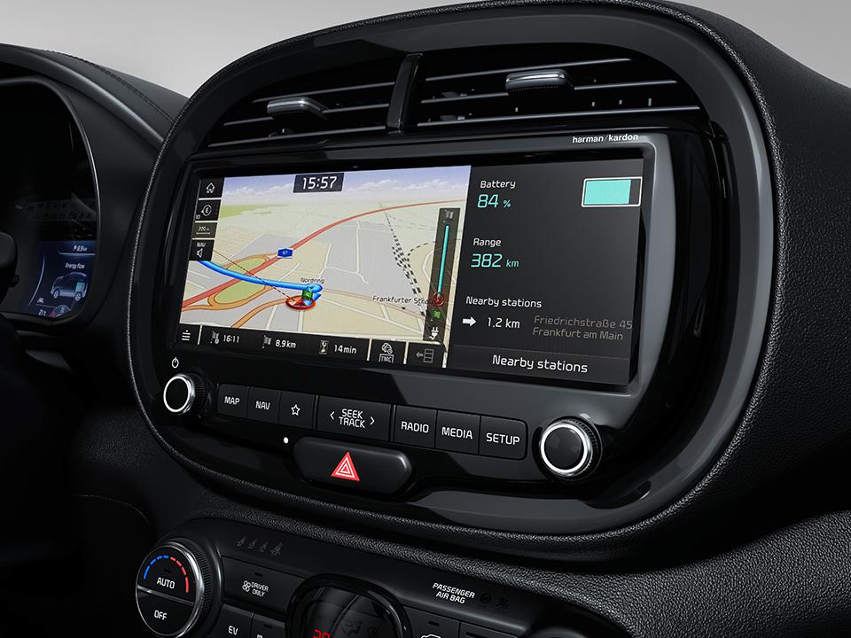 Écran tactile 10,25'' du système de navigation