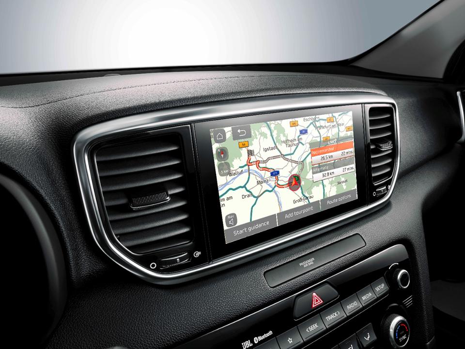 Système de navigation avec services connectés